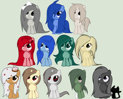 Minecraft Themed Fillies by SapphireShoelacesXD