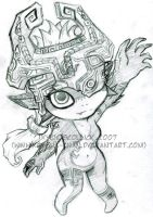 Midna Sketch by KeyshaKitty