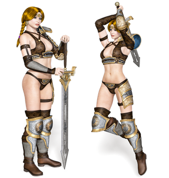 Female 03a PNG Stock by Roy3D