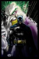 Joker vs. Batman by hairlessmonkee