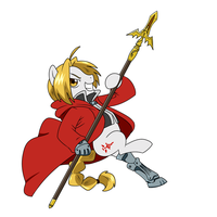 Pony Edward Elric by CSImadmax by greatdragonad
