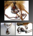 Colleen- wire wrapped copper necklace by mea00