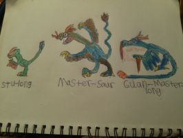 kung fu poke dragonsaurs by Evometheus6082
