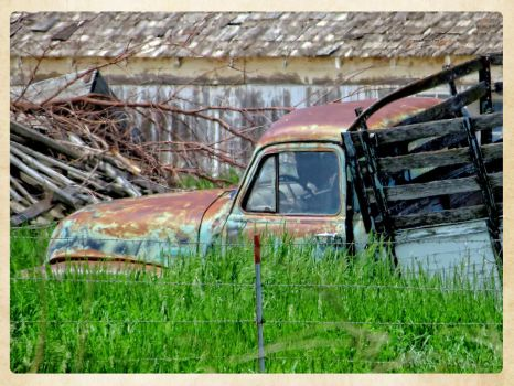 Abandoned Blue Truck by GrindhouseCinema