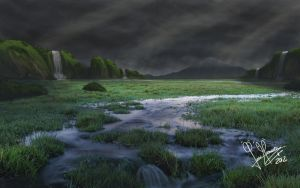 Landscape mattepainting 2 by RoolaKhol