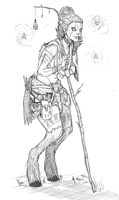 Fantasy Race Sketch by CotyP