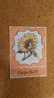 Stamping card: Sunflower in orange by yosimite