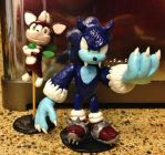 Chip and Sonic the Werehog Figurines by DanielMejia12