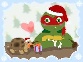 Raph and Spike X-mas by AnimeWaterFall