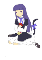 Bernkastel + little Battler by Chibeliboo