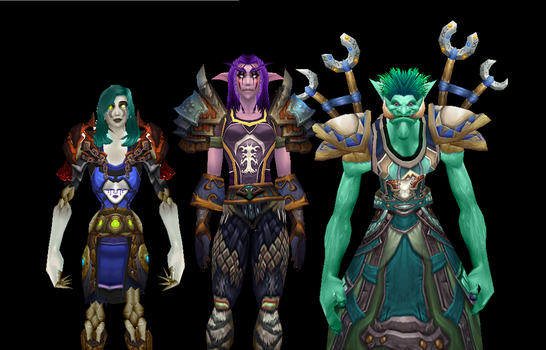 my wow main characters by featherunner