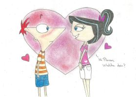 Phineas and Isabella by isika12