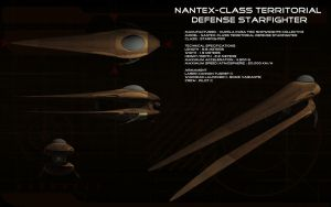 Nantex-class territorial defense starfighter by unusualsuspex