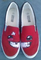 Super Meat Boy Slip ons by k0hrak