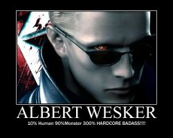 Wesker Motivational poster by TheTyrantDick