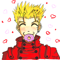 Vash Loves Donuts by MillyT