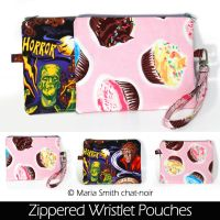 Zipper Wristlet Pouches by chat-noir