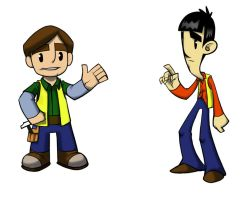 Paul and Peter concepts by akenator