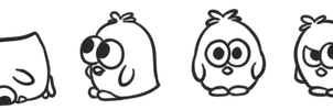 Free silly penguin-chicken poses by Smiley0face