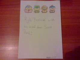 Kyle Broflovski with his friend from South Park by jessyho862010