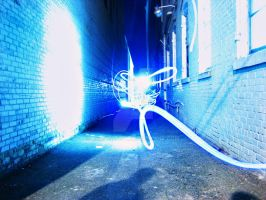 Light Graffiti 6 - Alleyway by aeroartist