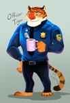 Zootopia : Officer Tiger by Mushstone