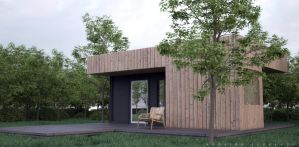 EXTERIOR simple box house by Rozairo