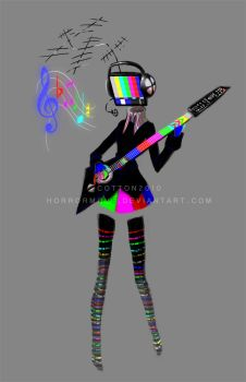 Test Pattern Girl by CottonValent