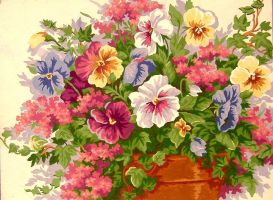 flowers in a pot by Artistic-mama84