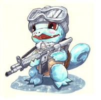 Winter Camouflage Squirtle by LuckyPupa