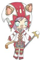 Myunie the White mage by moonshadebutterfly