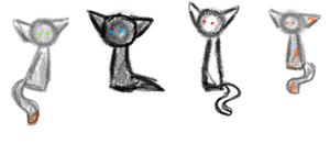 Kittehs are crayoneh~! by Shadestepwarrior