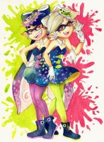 Squid sisters by Fred-Weasley