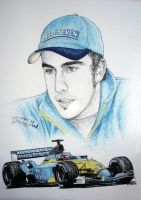 Fernando Alonso Tribute by machoart