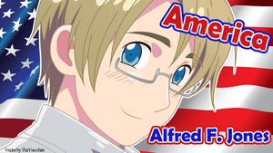 Gift: [APH] America (Alfred F. Jones) Wallpaper by BunnyBeryl