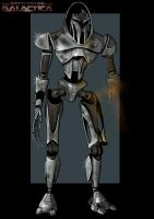 battle damaged cylon by nightwing1975