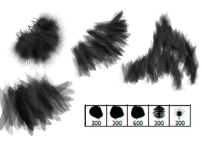 Bird Feather Brushes by Digi-fish