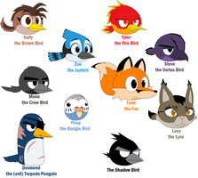 All Angry Birds OCs by Pack-Leader-Sally