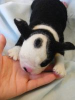 Needle Felted Boston Terrer pup by CVDart1990