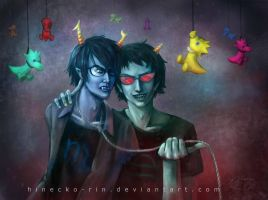 Vriska and Terezi (male version) by Hinecko-Rin