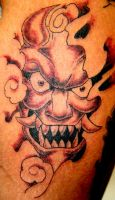 Japanese Demon Face by BiggCaZ
