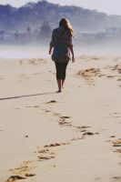 Footprints in the Sand by kaitlynslocombe