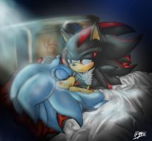 BedTime Contest Entry - Sonadow: Mesmerised by BlueNeedle-Inu