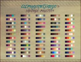 ElephantWendigo's Vintage Palettes - PS Swatches by ElephantWendigo