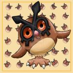 Hoothoot, number 163 by Vixenkiba