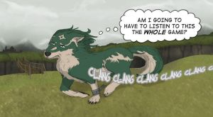 Wolf Link: ClangClangClang by CrownePrince