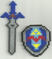 Zelda Sword and Sheild by Ravenfox-Beadsprites