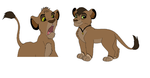 My New lion OC and my favorite Nahja by ApocalypticVoid