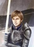 Commssion: Young Grey Warden by LenamoArt