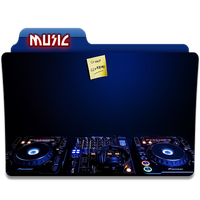 Music Folder Icon 2 by gterritory